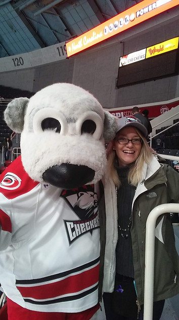 MJ and the Checkers mascot!