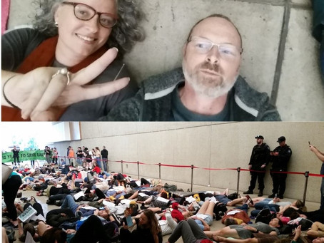 """Die-in"" at the Queensland Museum"