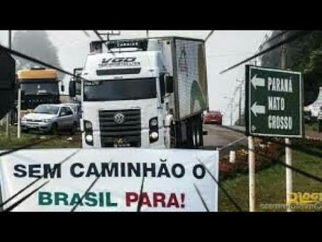 A greve dos caminhoneiros