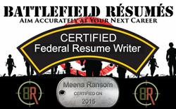 Battlefield Resumes Certified Federal Resume Write