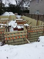 concrete foundation winter