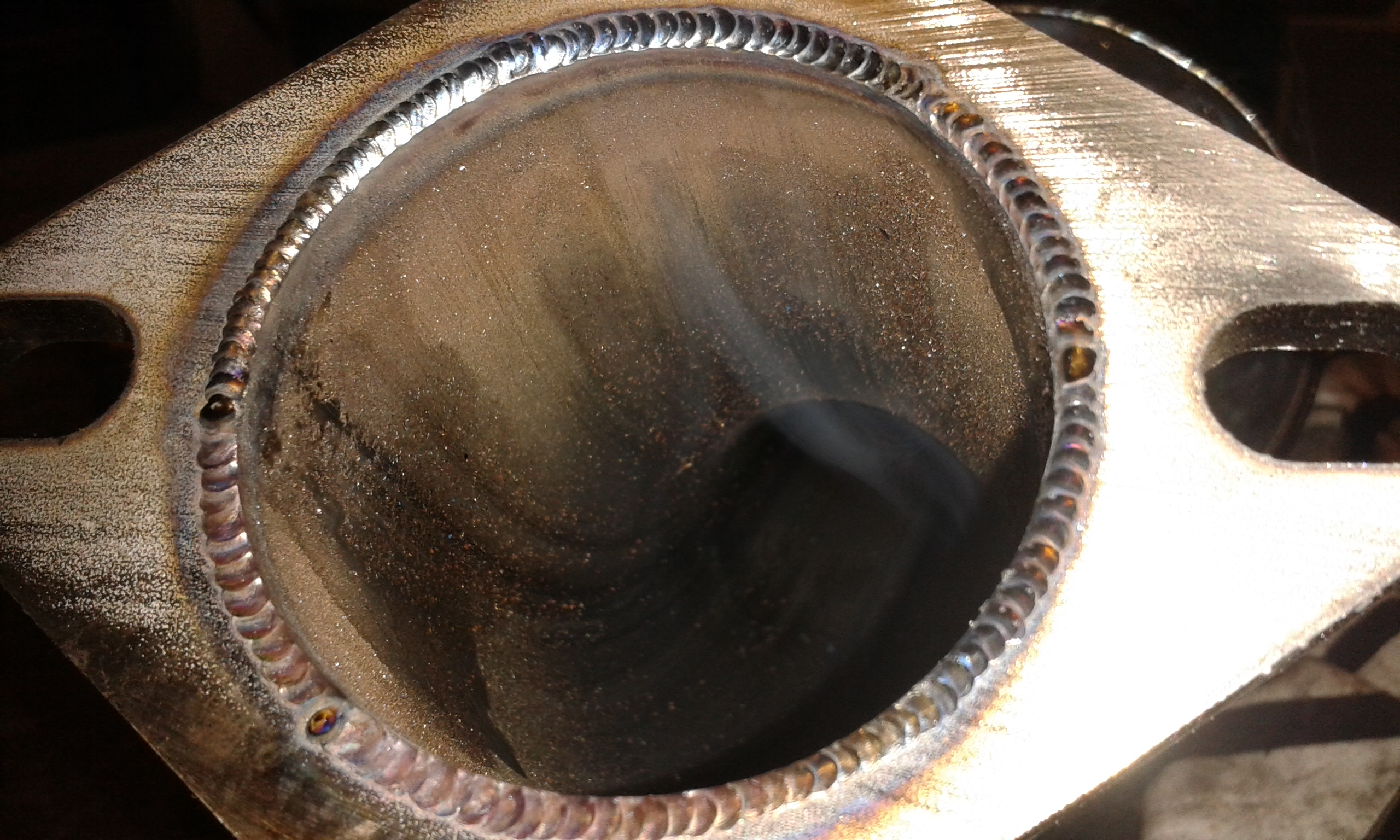 custom exhaust flange