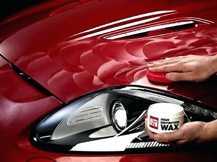 Hand Waxing A Car