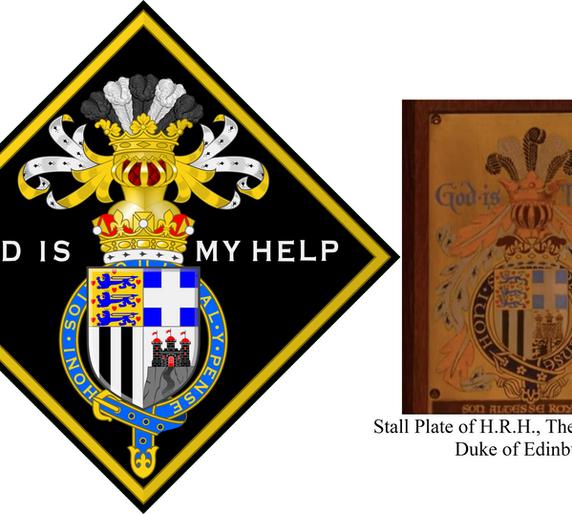 FUNERAL HATCHMENT OF H.R.H. THE DUKE OF EDINBURGH (10 Jun 1921-9 Apr 2021)