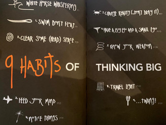 Book review Thinking BIG in 9 habits