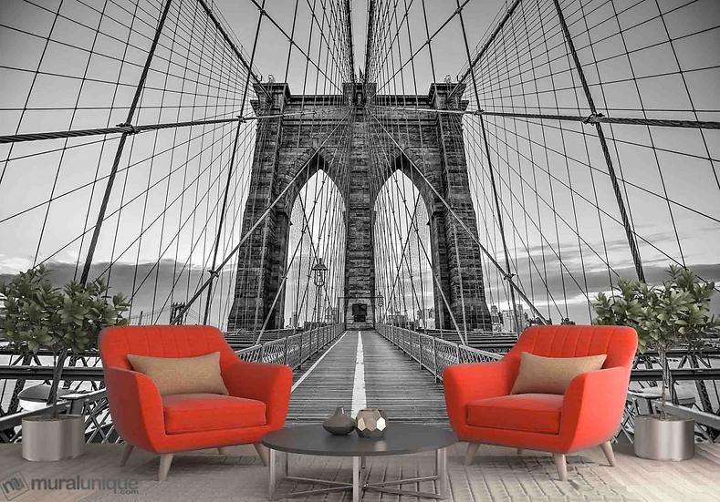 Balade sur le Pont de Brooklyn 12' x 8' (3,66m x 2,44m)