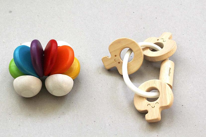 Rainbow Baby Car / Baby Key Rattle