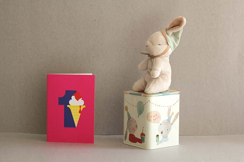 Happy Day Bunny in a box