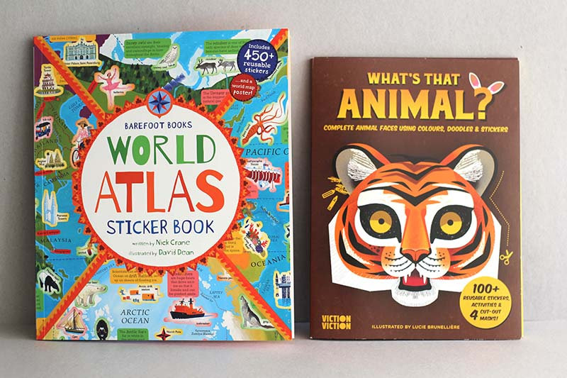 World Atlas Sticker book / What's that Animal?
