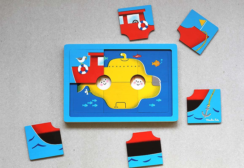 All Aboard! Three Tier Wooden Puzzle