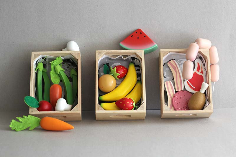 Market food crate Vegtables / Fruit / Meat