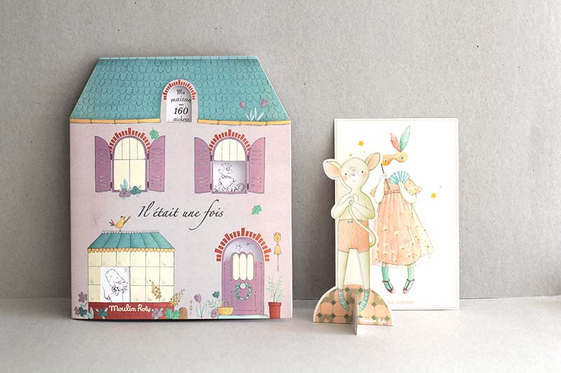 Ma Maison Colour and Sticker Book / Cut out Doll to Dress