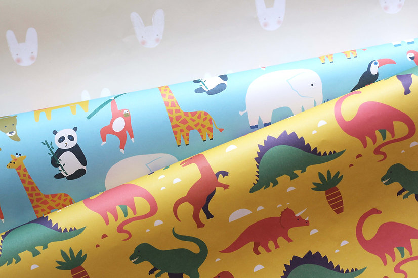 Bunny / Animal / dinosaur gift wrap