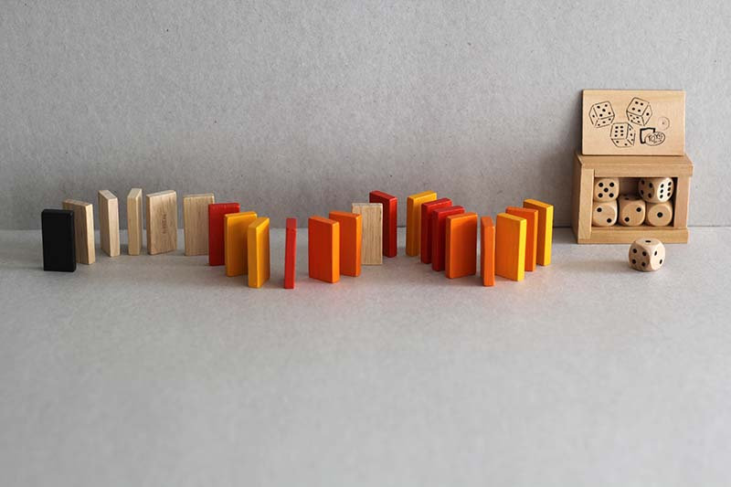 Wooden Dominos and Dice