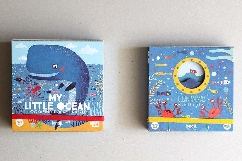 My Little Ocean Pocket Puzzle / Ocean Animal Memory Game