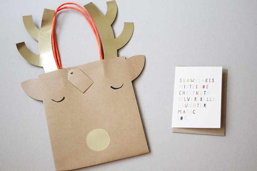 Christmas Reindeer Bag / Cards