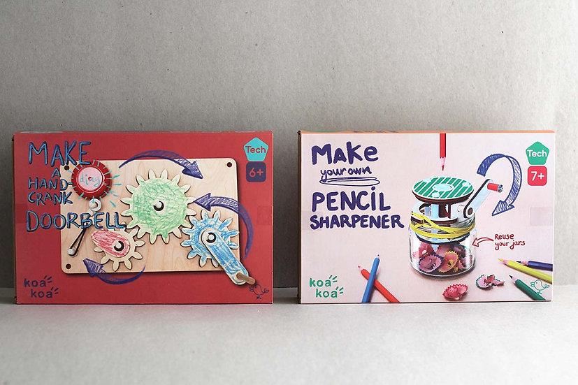 Make your own Hand Crank Door Bell/ Pencil Sharpener