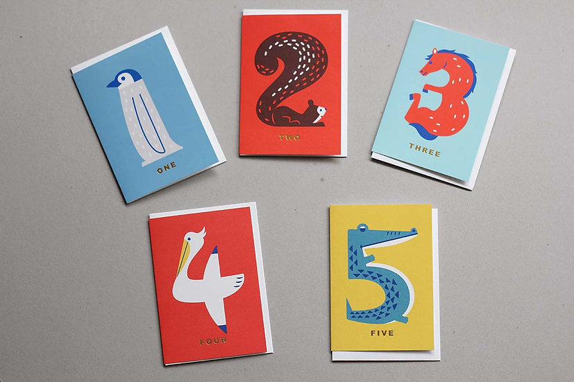 Age Cards 1, 2, 3, 4, 5