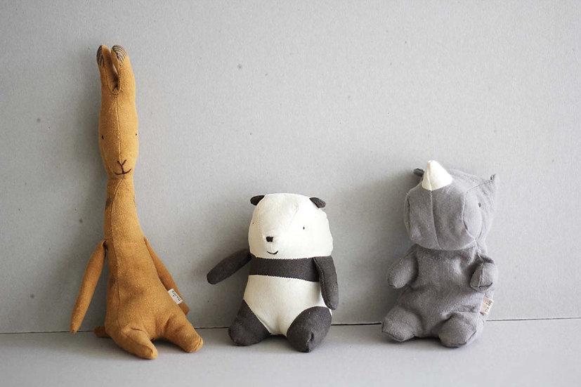 Mini Giraffe / Panda & Rhino - Noah's Friends