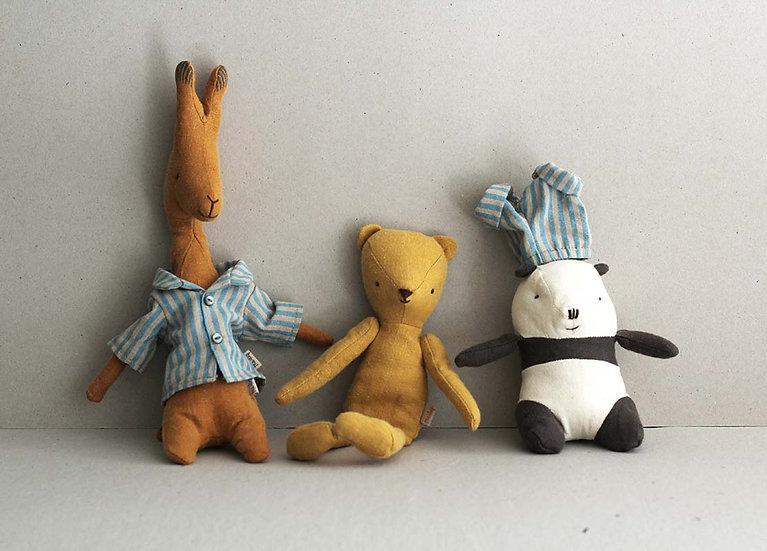 Giraffe, Teddy Junior, Panda and Pyjamas for Teddy Junior