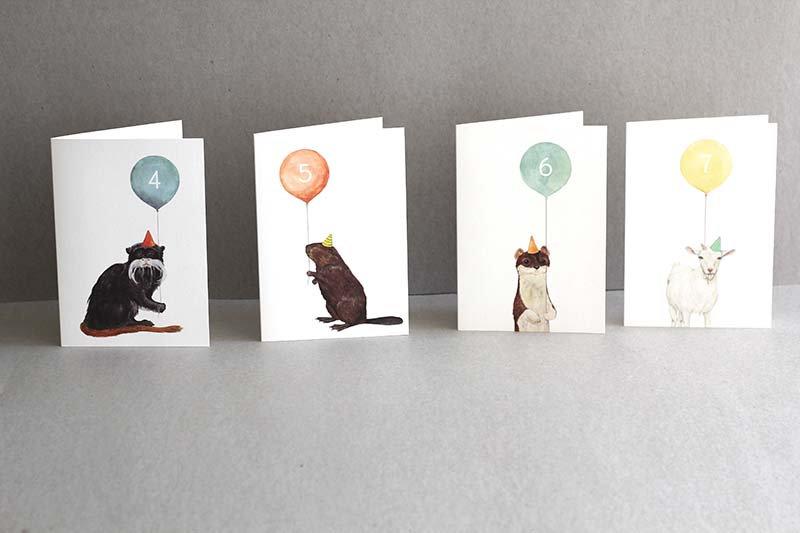 Mister Peebles Birthday Number Cards