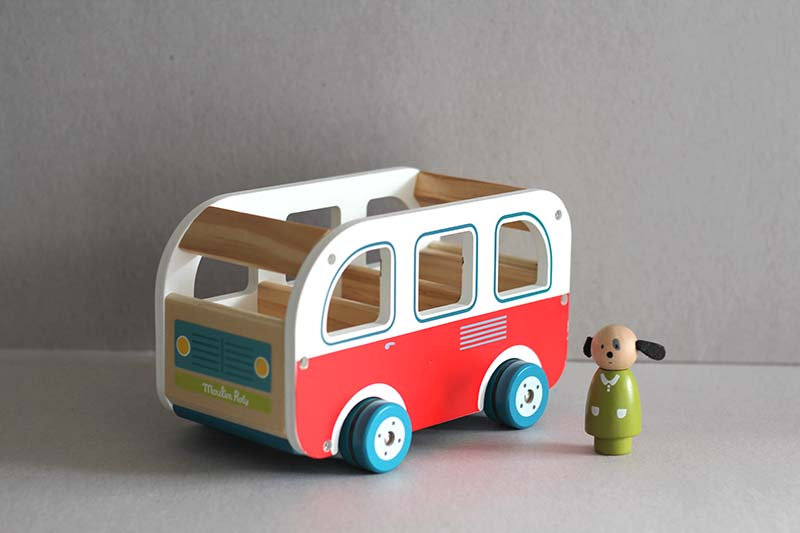 Wooden Bus Toy and Characters