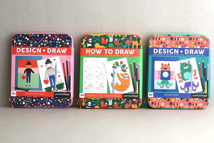 Magnetic drawing and design tins