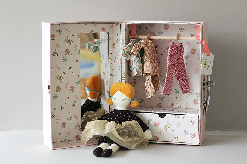 Doll in a suitcase