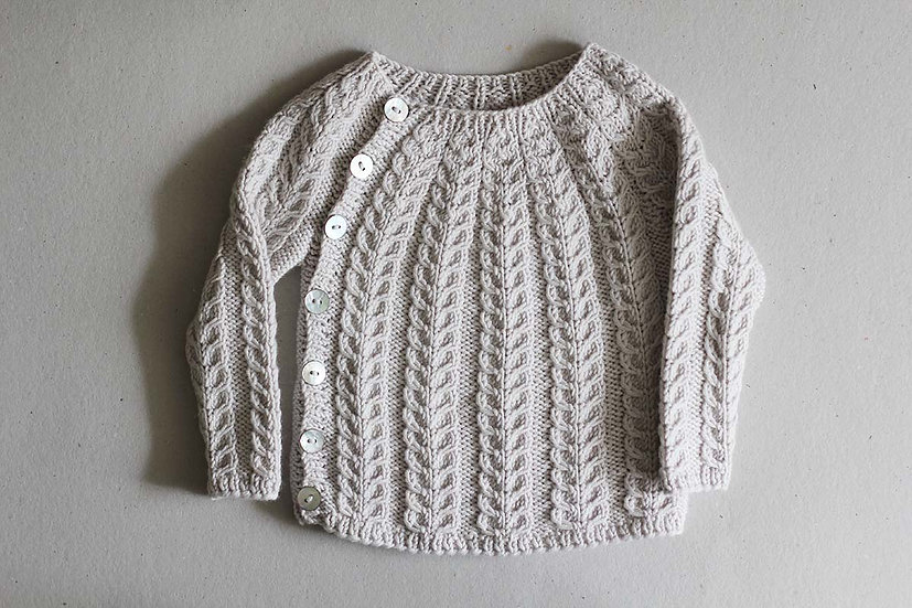 Cable knit side button jumper