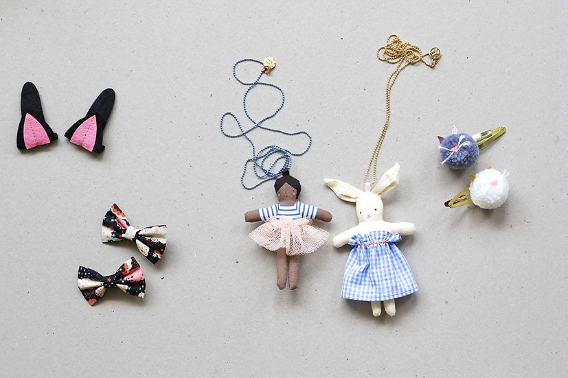 Hair Clips and Necklaces