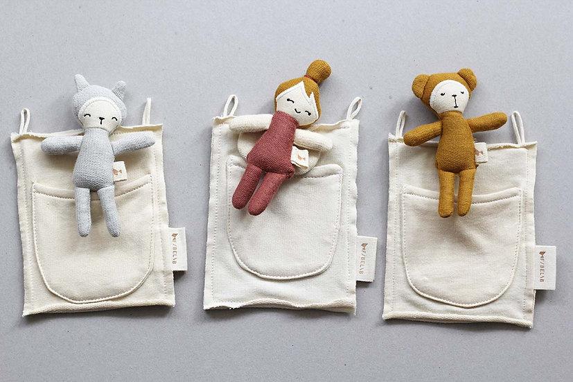 Pocket Friend Bunny, Fairy and Bear