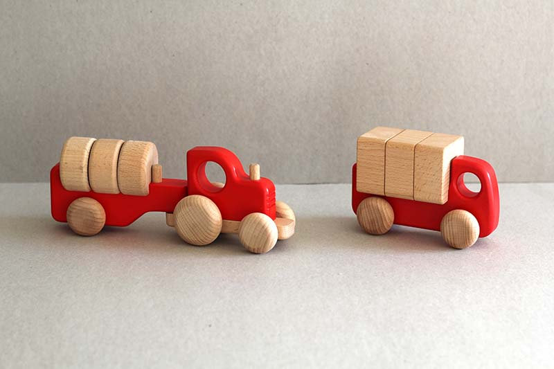 Red Tractor with Blocks / Lorry with Blocks