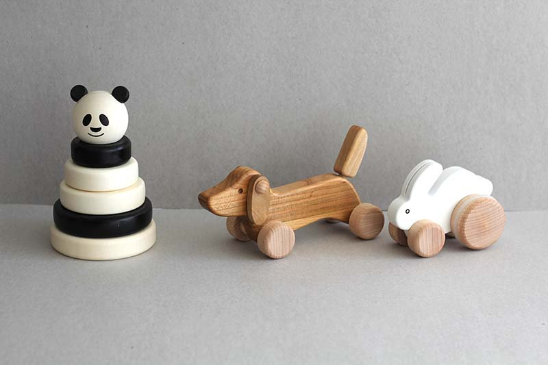 Panda Stacker / Dachshund Puppy / Bouncy Rabbit