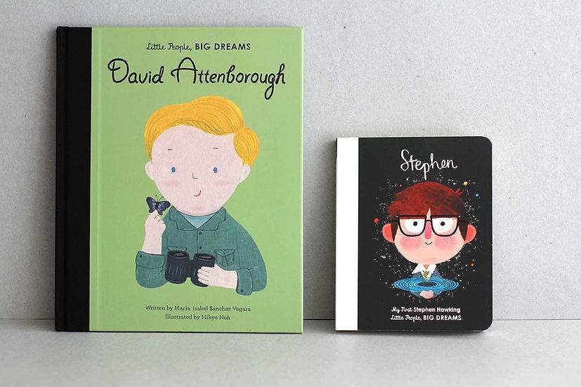 David Attenborough : Stephen Hawking  - Little people, Big Dreams