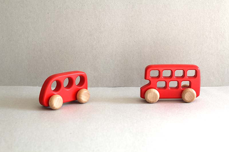 Small Red Bus / Double Decker Bus