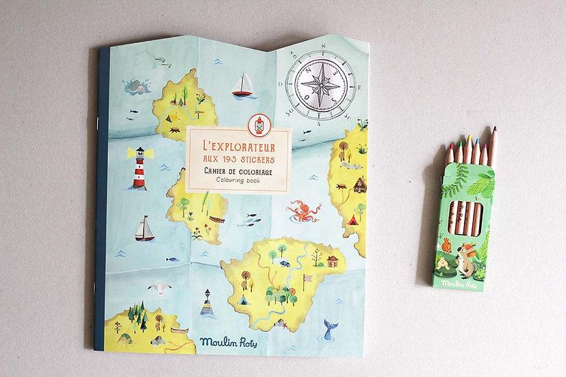 Explorer Colouring and Sticker Book