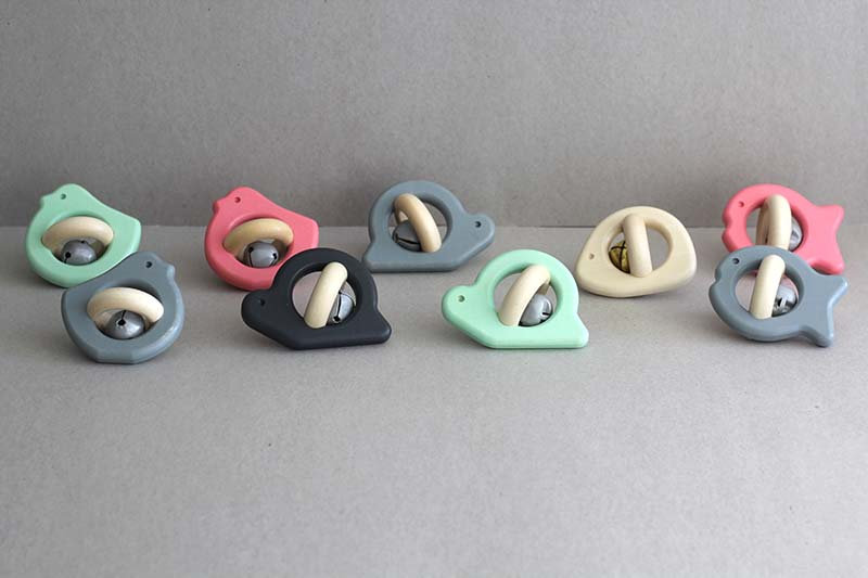 Wooden Bell Rattles and Teether