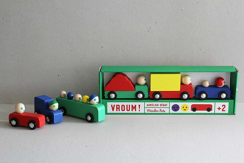 Set of Wooden Cars / Trucks