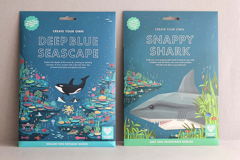 Create Your Own Deep Blue Sea Scape / Snappy Shark