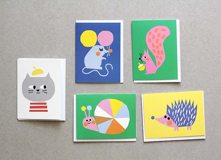 Animal Mini Cards