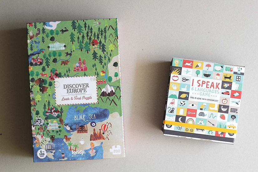 Discover Europe Puzzle / I Speak 6 Languages