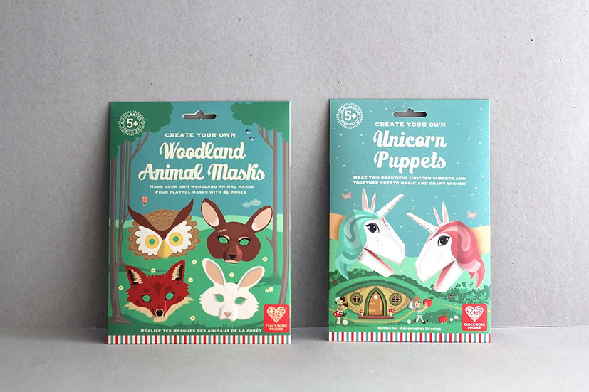 Create Your Own Woodland Masks/ Unicorn Puppets