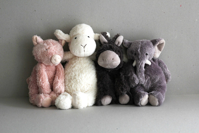 Pig,  Sheep, Donkey and Elephant