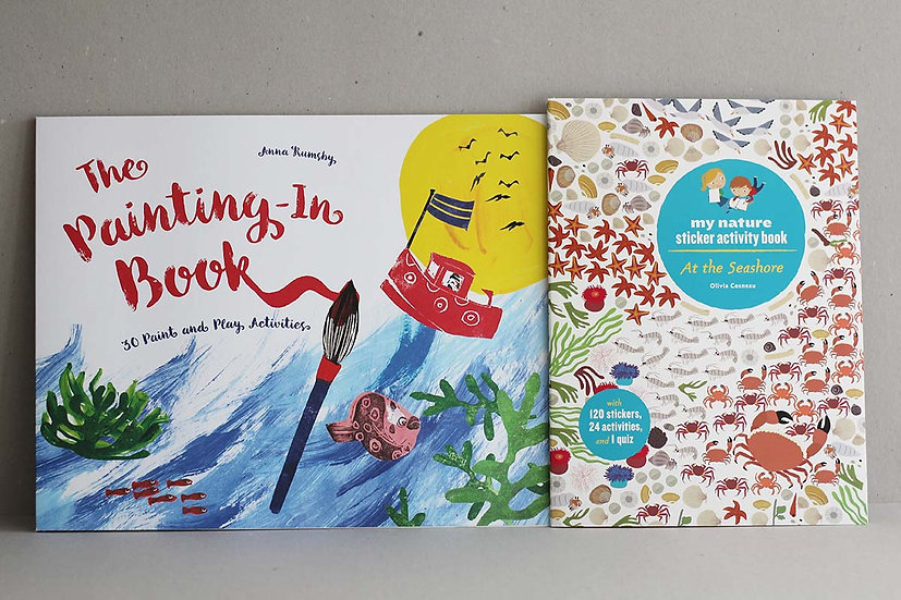 The Painting-in book / My Nature Sticker Activity Book - At The Seashore