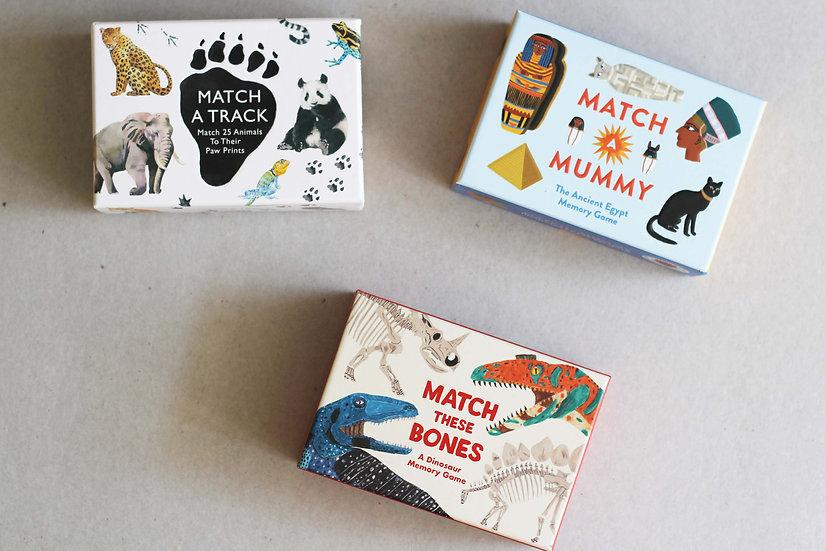Match A Track / Match A Mummy / Match these Bones