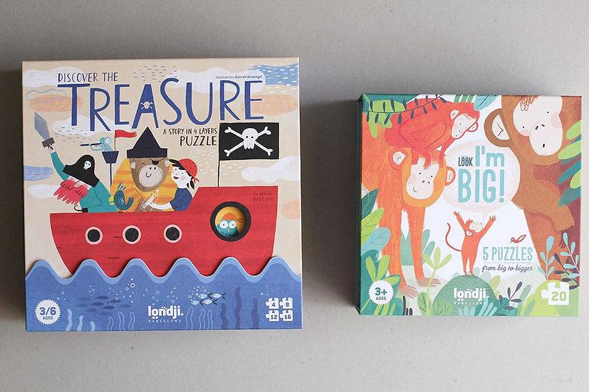 The Treasure Puzzle/ Look I'm BIG