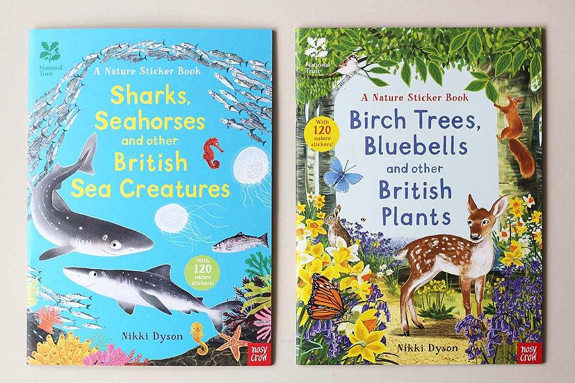 A Nature Sticker Book - Sea Creatures/ British Plants