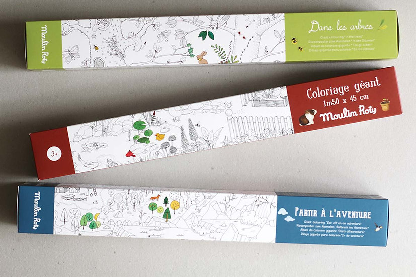 Giant Colouring Poster In the trees/ Adventure/ In the Garden
