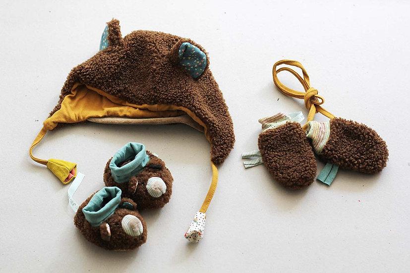 Bear Bonnet and Mittens