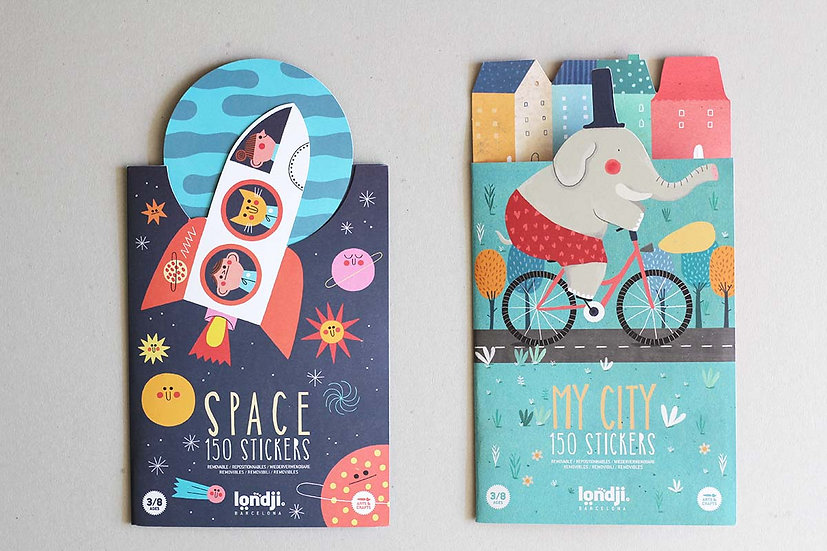 140 Stickers Space / My City